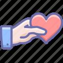 gesture, hand, heart, valentine icon