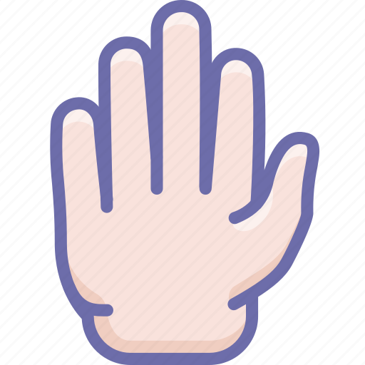 gesture, hand, stop icon