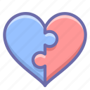couple, love, puzzle icon
