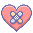heal, heart, patch icon