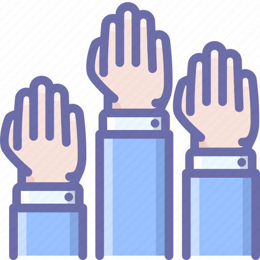 elections, hands, vote icon