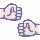 fist, hands, shake icon