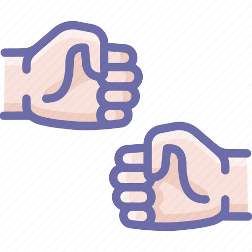 fist, hands, shake icon