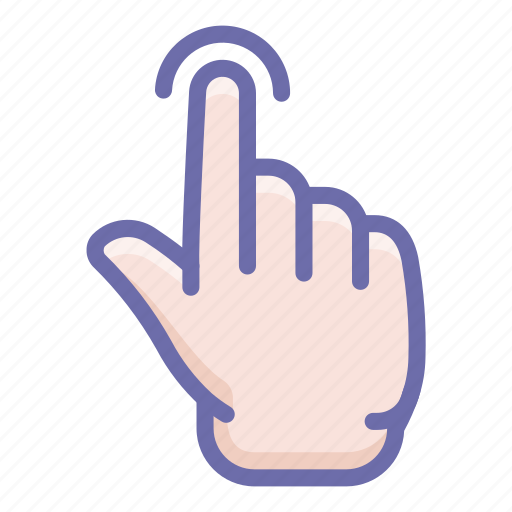 finger, gesture, touch icon