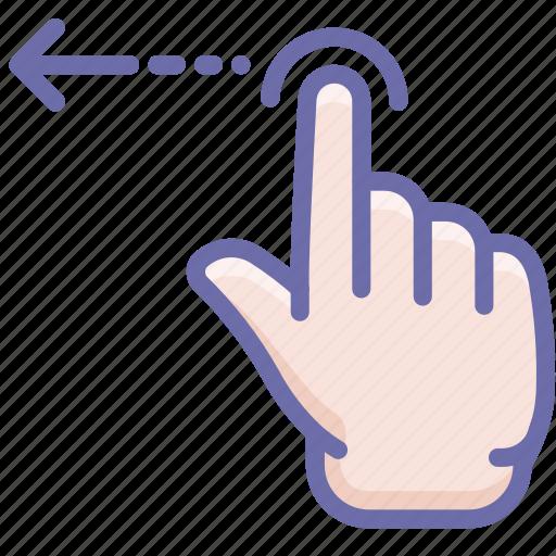 finger, gesture, swipe icon