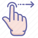 finger, gesture, swipe icon