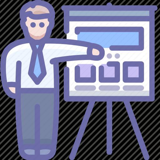 business, man, presentation icon