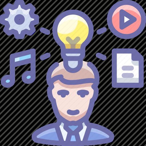 author, creative, idea, person icon
