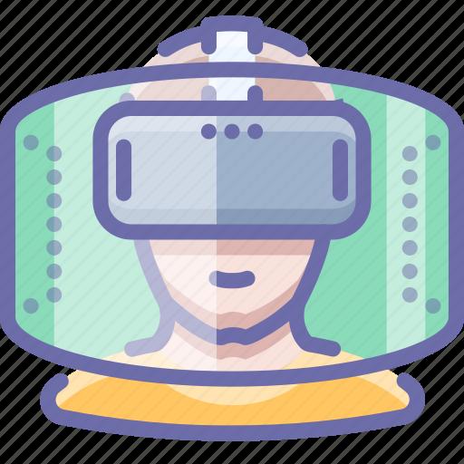 helmet, reality, virtual icon