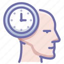 face, head, time icon