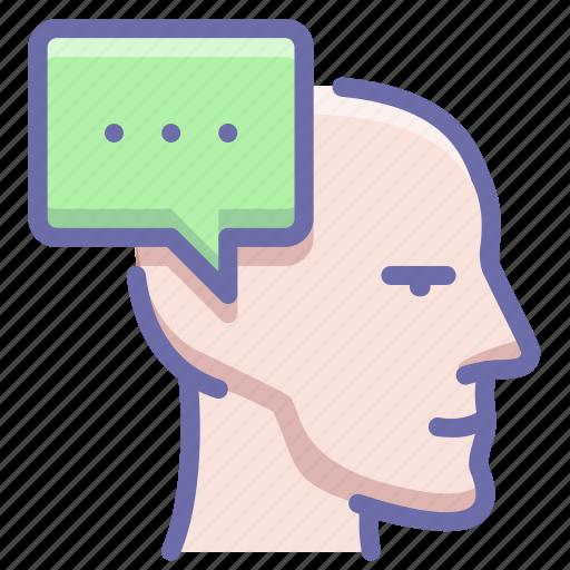 head, idea, thought icon