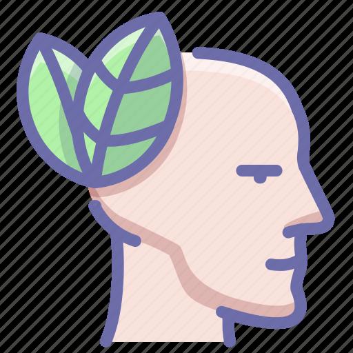calm, head, meditation icon