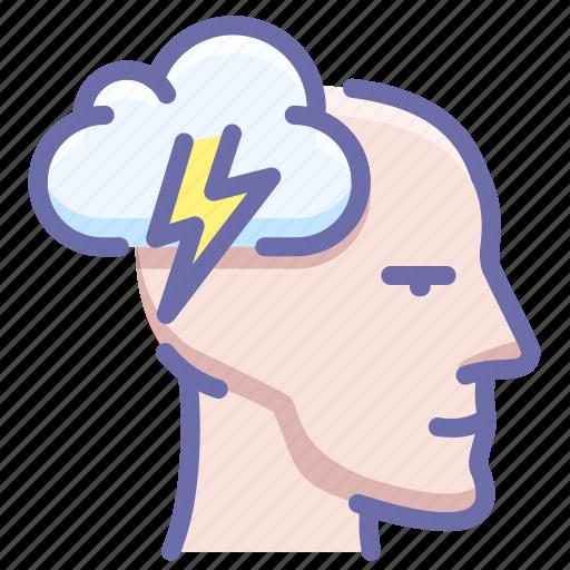 brainstorm, head, idea icon