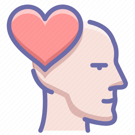 emotion, head, love icon