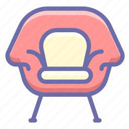 armchair, chair, cushion icon