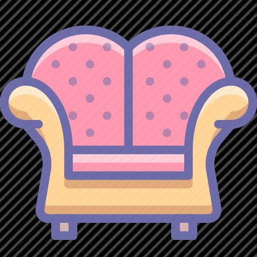 armchair, chair icon