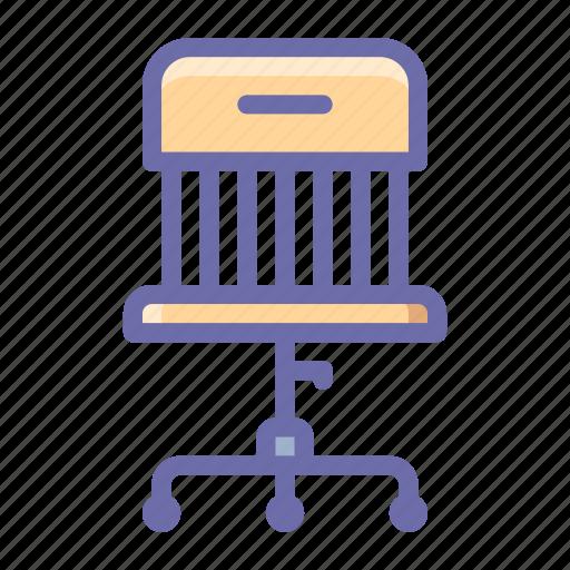 armchair, chair, wheels icon