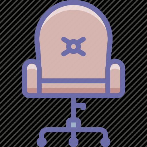 armchair, chair, office, wheels icon