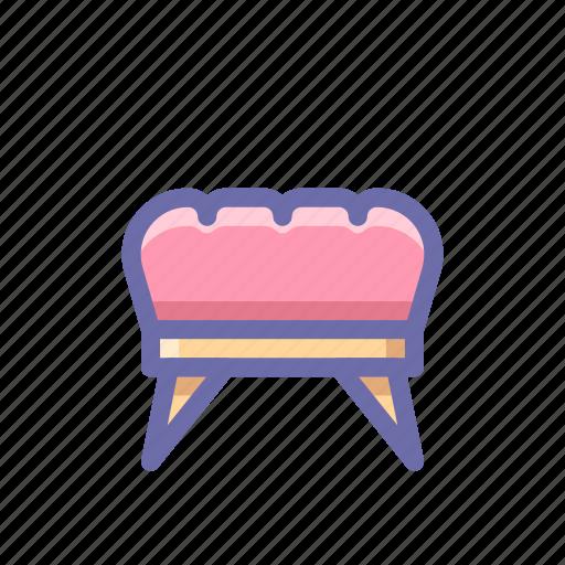 furniture, ottoman icon