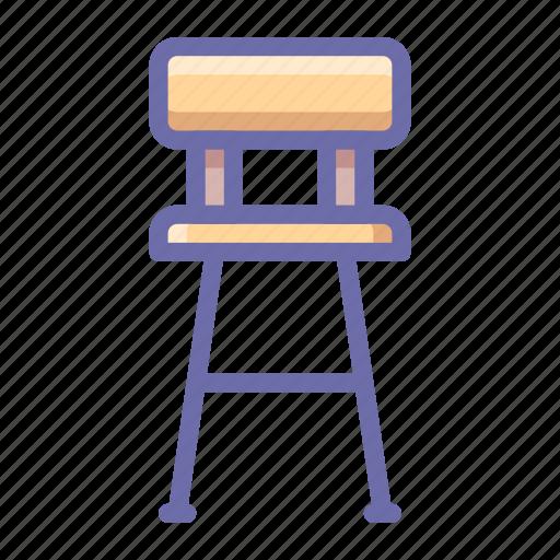 bar, chair icon
