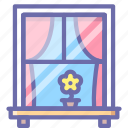curtains, window icon