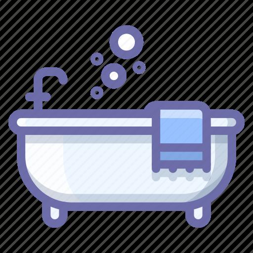 bath, bathtub, relax icon