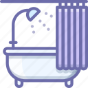 bath, bathtub, curtains icon