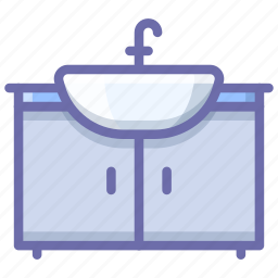bathroom, furniture, sink icon