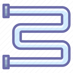 bathroom, heating, rail icon
