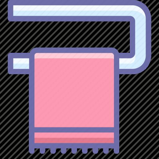 bathroom, heating, towel icon