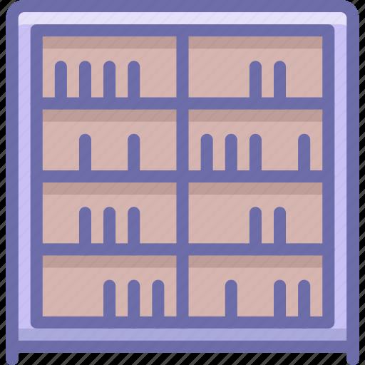 bookcase, cabinet, cupboard icon