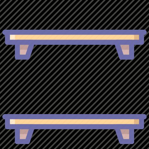 furniture, shelf, shelves icon