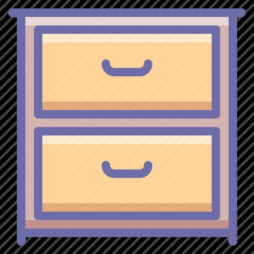 cabinet, drawer, interior icon