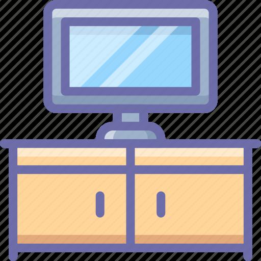 cabinet, interior, tv icon