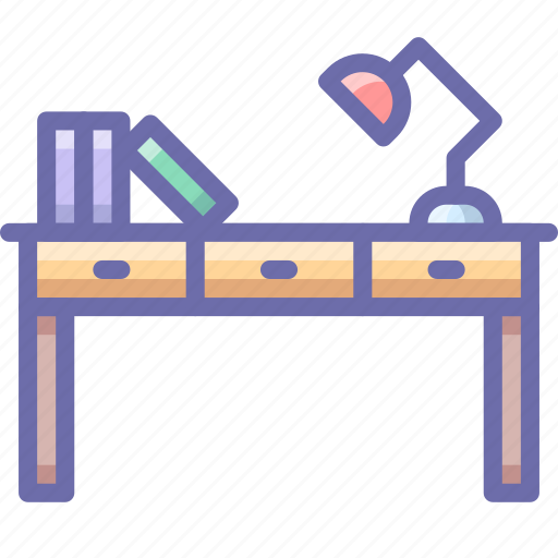desk, office, workplace icon