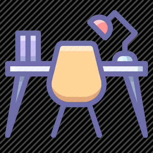 desk, interior, workplace icon