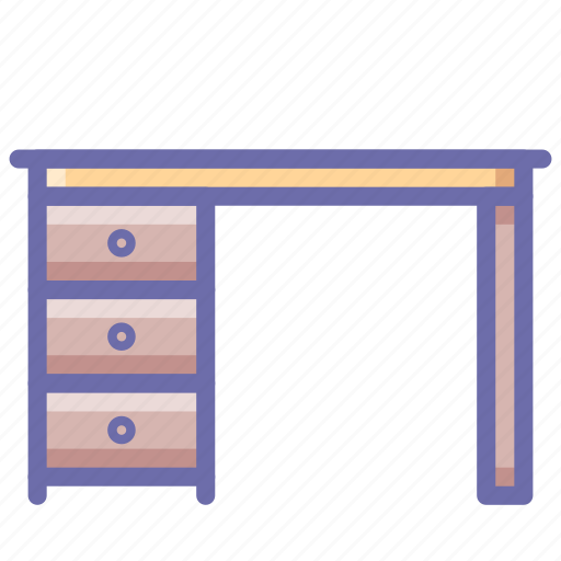 desk, drawer, table icon