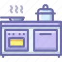 cooker, interior, kitchen