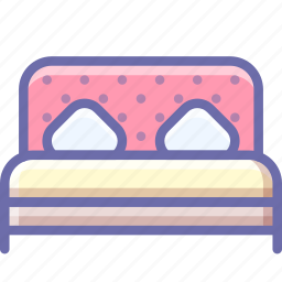 bed, double, room icon