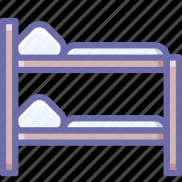 bed, bunk, room icon