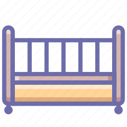 bed, child, crib icon