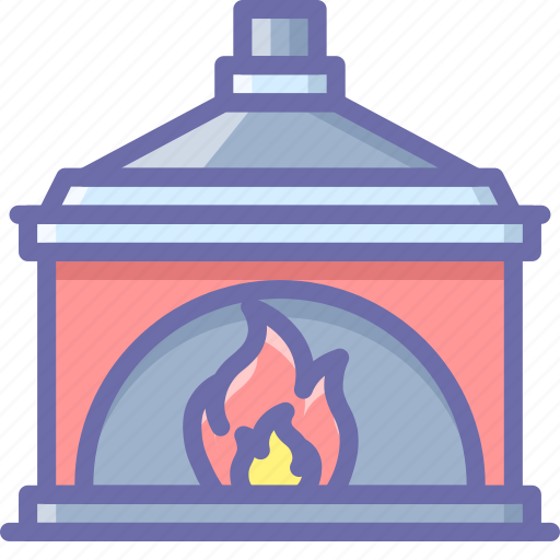 chimney, fireplace, interior icon