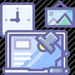 computer, interior, workplace icon