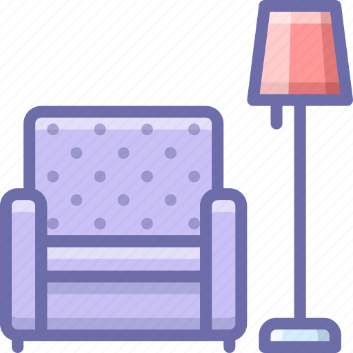 chair, lamp icon