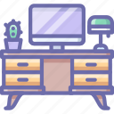 computer, desk, workplace icon