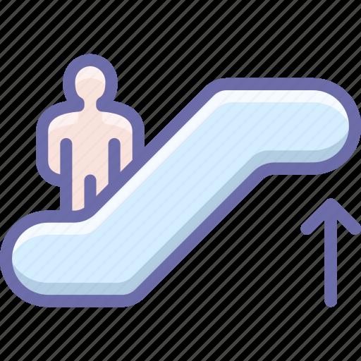 escalator, staircase, up icon