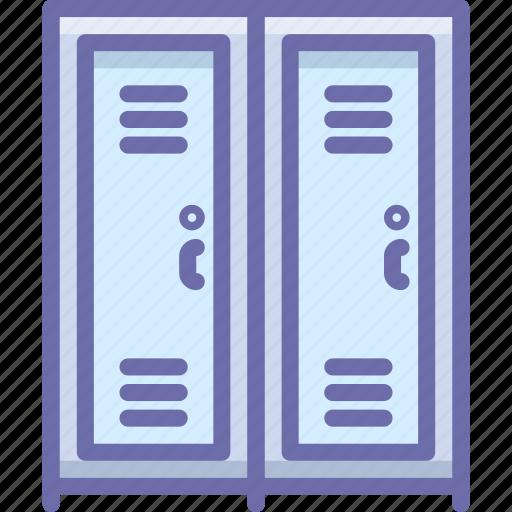 furniture, locker, school icon