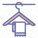 clothes, hanger, towel icon