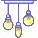 bulb, chandeller, lamp icon