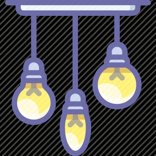bulb, chandeller, lamp icon